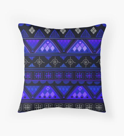 Boho Geometric Pattern Var. 3 Throw Pillow