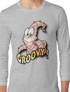 Groovy Worm  Long Sleeve T-Shirt