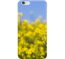 Rapeseed flowers swaying in the wind iPhone Case/Skin