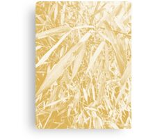 After Rain Plant Design (Spicy Mustard Color) Canvas Print