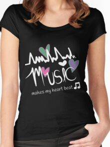For the love of all music Women's Fitted Scoop T-Shirt