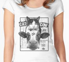 Cat Cow Energy Show Flyer Women's Fitted Scoop T-Shirt