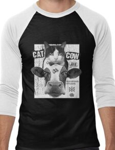 Cat Cow Energy Show Flyer Men's Baseball ¾ T-Shirt