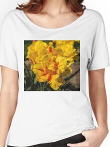 Showy Sunny Yellow Tulips Women's Relaxed Fit T-Shirt