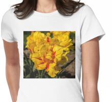 Showy Sunny Yellow Tulips Womens Fitted T-Shirt