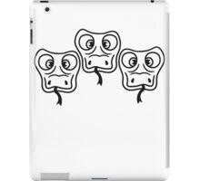 3 friends team cool crew party head face funny long comic cartoon snake iPad Case/Skin