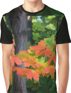 Impressions of Forests - The First Red Maple Leaves Graphic T-Shirt
