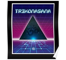 Space Age Triangle Poster