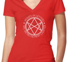Women of Letters Detroit Chapter Women's Fitted V-Neck T-Shirt