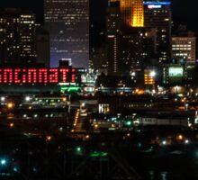 Cincinnati at Night Sticker