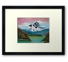 autumn on the lake Framed Print