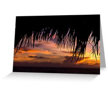 Sunrise over the beach in Cayo Coco Greeting Card