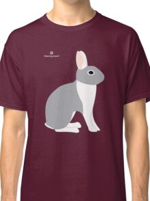 Lilac White Eared Rabbit Classic T-Shirt