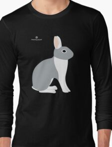 Lilac White Eared Rabbit Long Sleeve T-Shirt