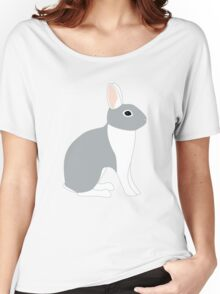 Lilac White Eared Rabbit Women's Relaxed Fit T-Shirt