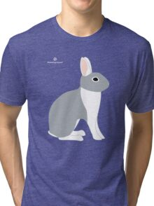 Lilac White Eared Rabbit Tri-blend T-Shirt