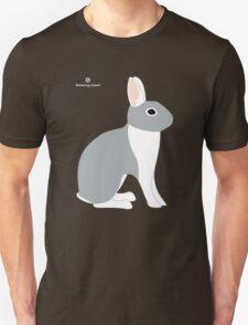 Lilac White Eared Rabbit Unisex T-Shirt