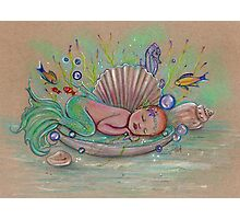 Awakening new baby mermaid by Renee Lavoie Photographic Print