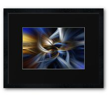 Abstracts of blue and gold Framed Print