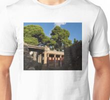 Herculaneum Ruins - Colorful Murals Courtyard Behind a Rough Stone Wall Unisex T-Shirt