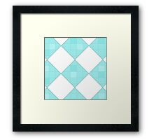 blue checkers Framed Print