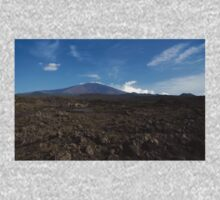 Etna Did This - the Lava Fields and the Volcano  One Piece - Long Sleeve