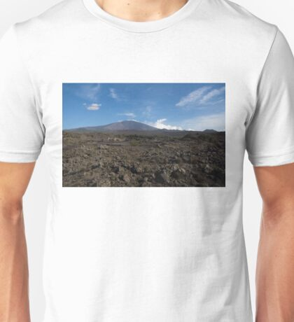 Etna Did This - the Lava Fields and the Volcano  Unisex T-Shirt