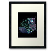 Night Bird Coffee Lover Framed Print