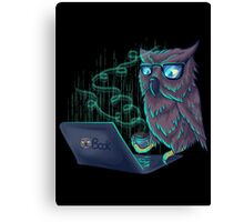 Night Bird Coffee Lover Canvas Print