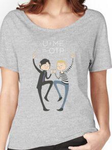 U+ME=OTP JOHNLOCK Women's Relaxed Fit T-Shirt