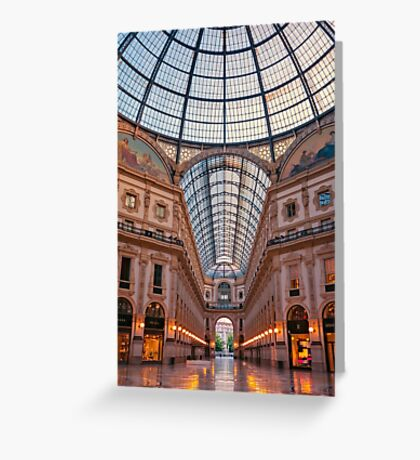 Galleria Milan Italy Greeting Card