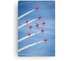 Red Arrows at the Southport airshow. Canvas Print