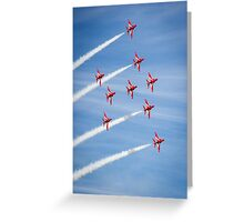 Red Arrows at the Southport airshow. Greeting Card