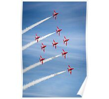 Red Arrows at the Southport airshow. Poster