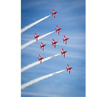 Red Arrows at the Southport airshow. Photographic Print