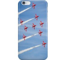 Red Arrows at the Southport airshow. iPhone Case/Skin
