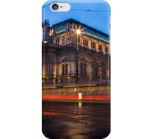 Wiener Staatsoper in the blue hour iPhone Case/Skin