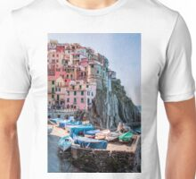 Manarola Boats Cinque Terre Italy Unisex T-Shirt