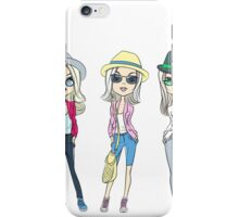 Fashion hipster girls in hats iPhone Case/Skin
