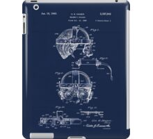 Antique Welders Goggles blueprint drawing iPad Case/Skin