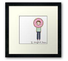 I Doughnut know Framed Print