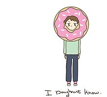 I Doughnut know Photographic Print