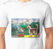 Warmer Climb Welshies Christmas card Unisex T-Shirt