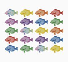 Multicoloured Fish One Piece - Short Sleeve