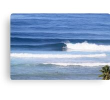 Surfing Tres Palmas Canvas Print