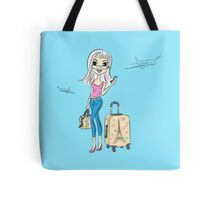 Fashion girl traveler Tote Bag
