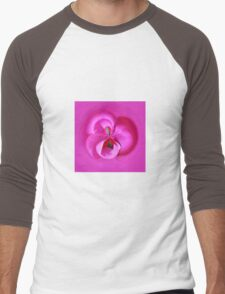 Pink Petals Abstract Men's Baseball ¾ T-Shirt