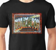 Vintage Hollywood Greetings Post Card Unisex T-Shirt