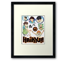 Haikyuu's pack Framed Print