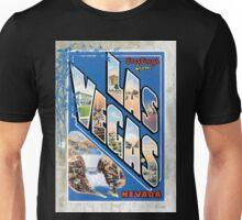 Vintage Las Vegas Nevada Greetings Post Card Unisex T-Shirt